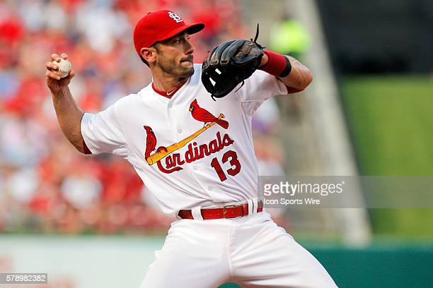 St Louis Cardinals third baseman Matt Carpenter makes a play against the Kansas City Royals at Busch Stadium in St Louis Missouri