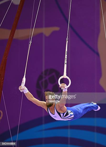 18 June 2015 Alexander Shatilov Israel competes on the rings during the Artistic Gymnastics Men's Individual AllAround Final 2015 European Games...