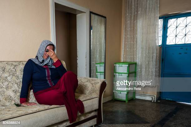 10 June 2015 Ergani Turkey Hanim Kaya mother of Mutlu Kaya poses for a portrait in the house where Mutlu was shot in the head on the night of the...