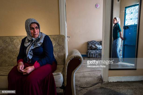 10 June 2015 Ergani Turkey Hanim Kaya mother of Mutlu Kaya remembers moments of joy with her daughter in the house where Mutlu was shot in the head...