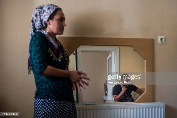 10 June 2015 Ergani Turkey Sevil Denizhan sister of Mutlu Kaya remembers moments of joy with her younger sister in the house where Mutlu was shot in...