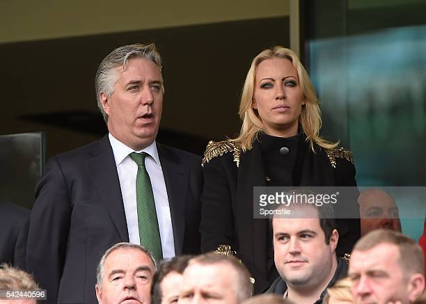 7 June 2015 FAI chief Executive John Delaney and his girlfriend Emma English in attendance at the game Three International Friendly Republic of...