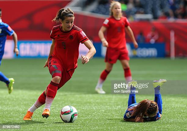 June 2015 Germany's Lena Lotzen with the ball during the Thailand vs Germany game at the Investors Group Field in Winnipeg MB.