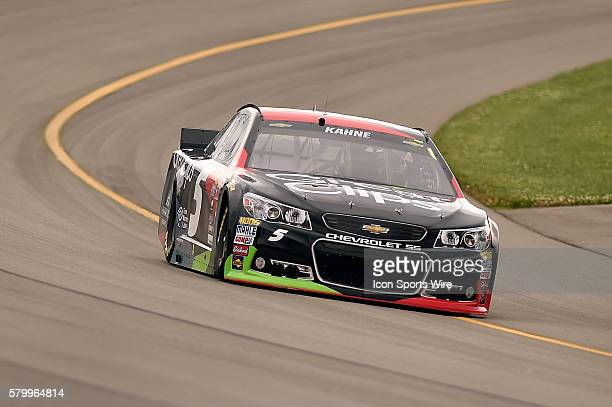 Kasey Kahne wins the Pole for the Quicken Loans 400 NASCAR Sprint Cup Series race at Michigan International Speedway in Brooklyn Mi