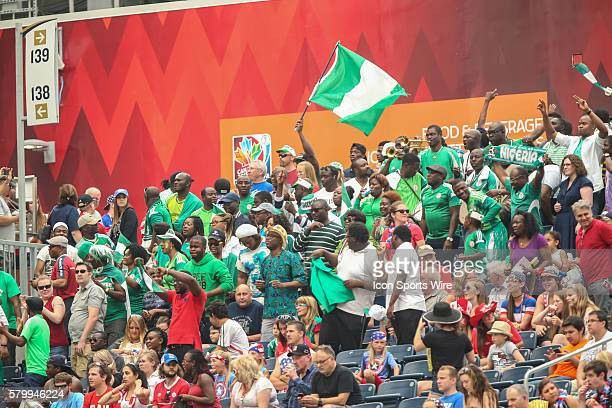 June 2015 Nigerian fans during the Sweden vs Nigeria game at the Investors Group Field in Winnipeg MB.