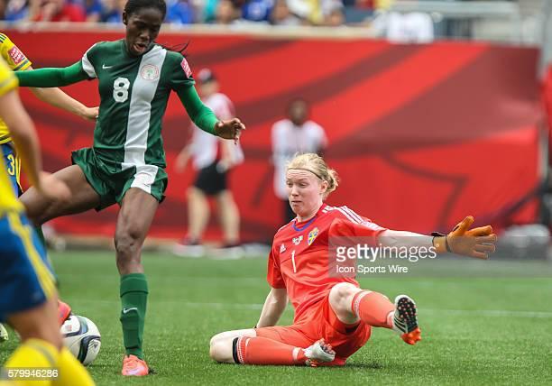 June 2015 Sweden's Hedvig Lindahl during the Sweden vs Nigeria game at the Investors Group Field in Winnipeg MB.