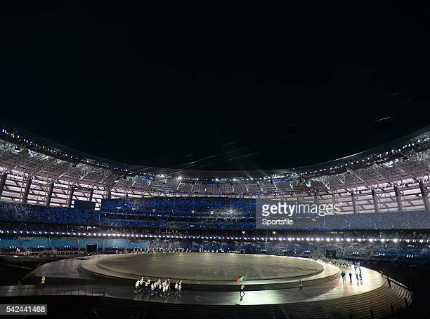 12 June 2015 Team Ireland during the 2015 European Games Opening Ceremony at the Olympic Stadium in Baku Azerbaijan Picture credit Stephen McCarthy /...