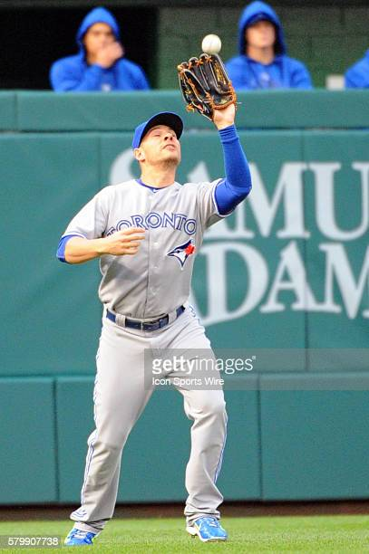 Toronto Blue Jays left fielder Danny Valencia in action against the Washington Nationals at Nationals Park in Washington DC where the Toronto Blue...