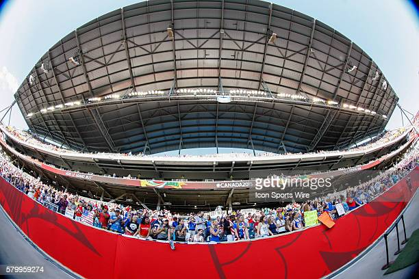 June 2015 USA fans during the USA vs Sweden game at the Investors Group Field in Winnipeg MB.