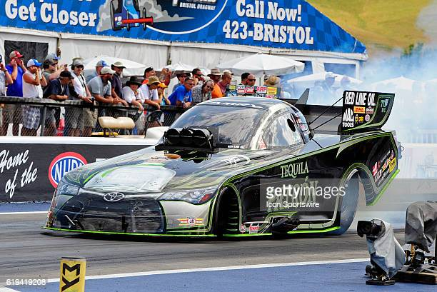 18 June 2016 | Alexis DeJoria Toyota Camry NHRA Funny Car at the Thunder Valley Nationals at Bristol Motor Speedway in Bristol Tennessee