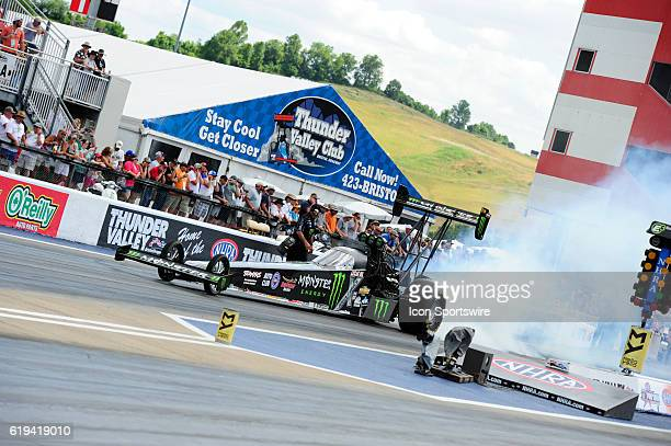 June 2016 | Brittany Force John Force Racing NHRA Top Fuel Dragster at the Thunder Valley Nationals at Bristol Motor Speedway in Bristol, Tennessee.