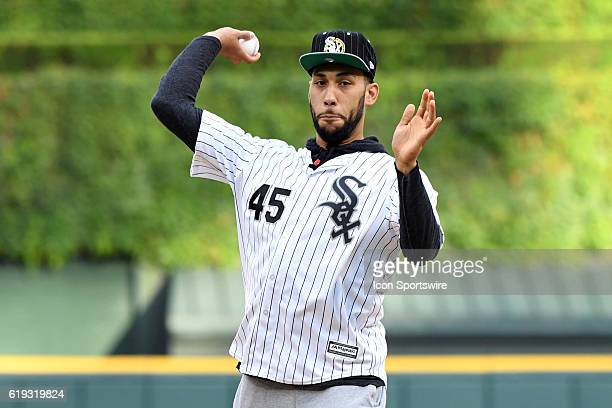 b9297913131f Chicago Bulls first round draft pick Denzel Valentine throws out the...  News Photo - Getty Images
