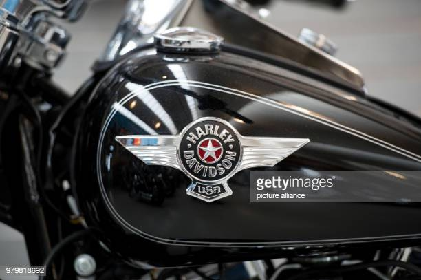 The Harley Davidson logo on a motorbike viewable at a press conference for 'Harley Days' The European Commission is testing import duty on goods such...
