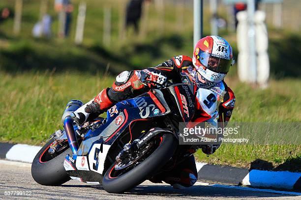 2016 Michael Rutter TT veteran during the TT evening practice in Douglas Isle of Man