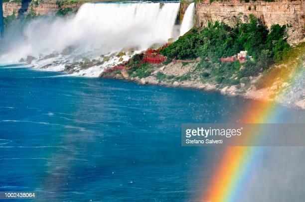 USA, NY, June 2016, niagara falls, USA side and rainbow
