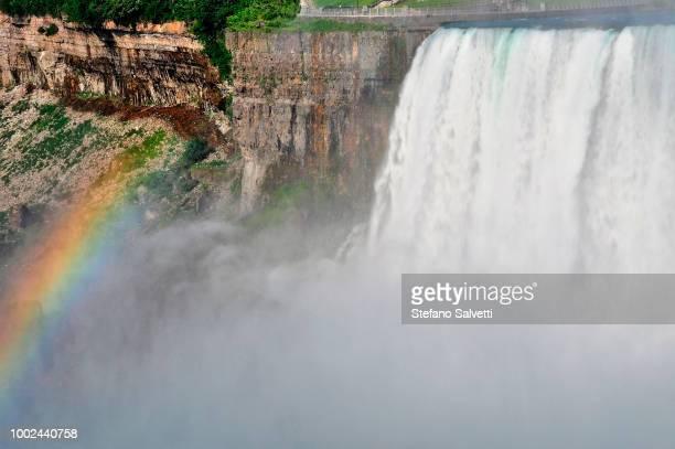 USA, NY, june 2016, Niagara falls, USA side, fall and rainbow