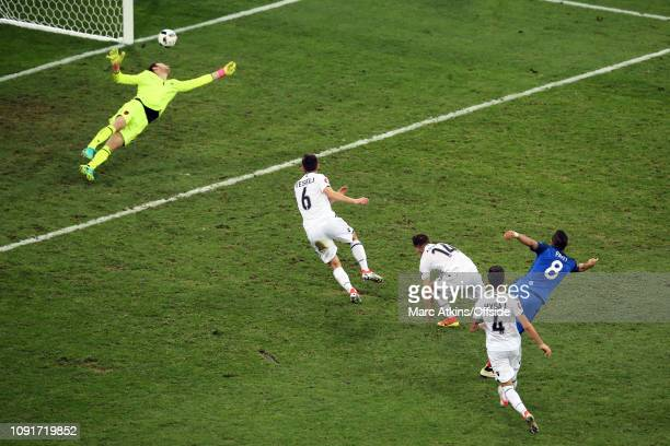 15 June 2016 UEFA EURO 2016 Group A France v Albania Dimitri Payet of France scores their 2nd goal