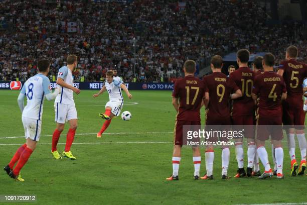 11 June 2016 UEFA EURO 2016 Group B England v Russia Eric Dier of England scores a goal to make it 10