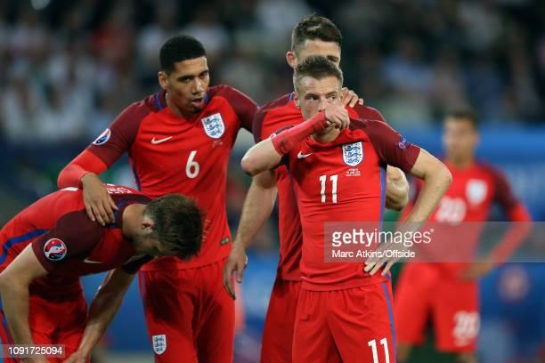 June 2016 - UEFA EURO 2016 - Group B - Slovakia v England - Eric Dier, Chris Smalling, Gary Cahill and Jamie Vardy of England - .