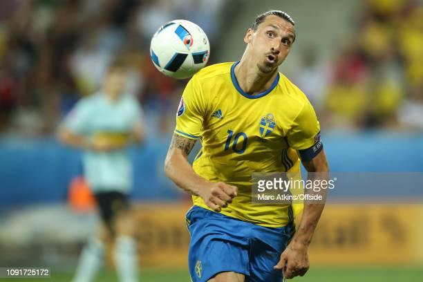 22 June 2016 UEFA EURO 2016 Group E Sweden v Belgium Zlatan Ibrahimovich of Sweden