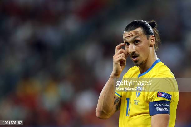 22 June 2016 UEFA EURO 2016 Group E Sweden v Belgium Zlatan Ibrahimovich of Sweden