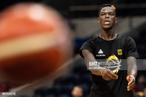 National player Dennis Schroeder during a training session of the German basketball national team Germany is playing against Austria on the 29th of...