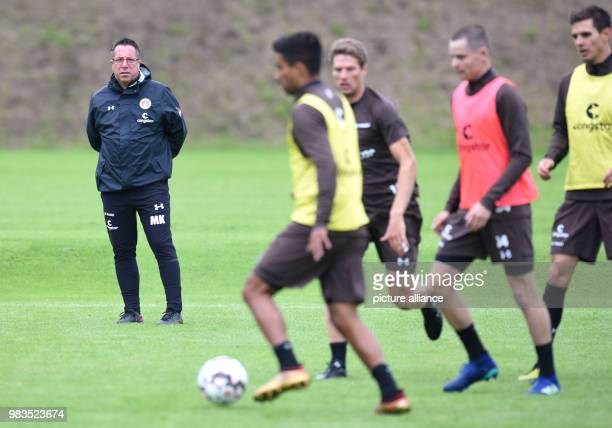 Markus Kauczinski head coach of the 2nd Bundesliga's FC StPauli following the club's start of training Photo Daniel Bockwoldt/dpa