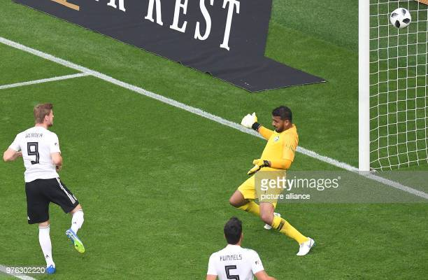 Football international friendly Germany vs Saudi Arabia at the BayArena Germany's Timo Werner scores to make it 10 On the right is Saudi goalie...