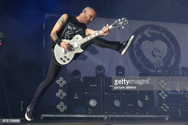 Guitar player Zach Blair performes on the main stage with the USAmerican punk band Rise Against at the music festival 'Rock am Ring' Photo Thomas...