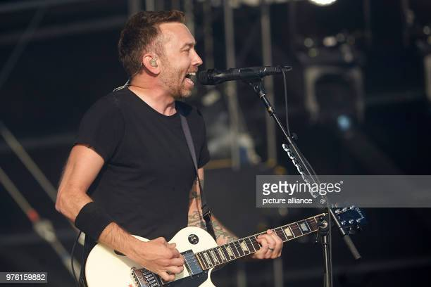 Singer Tim McIlrath performes on the main stage with the USAmerican punk band Rise Against at the music festival 'Rock am Ring' Photo Thomas Frey/dpa