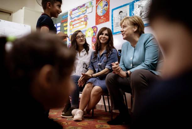 Slikovni rezultat za Angela Merkel in beirut school