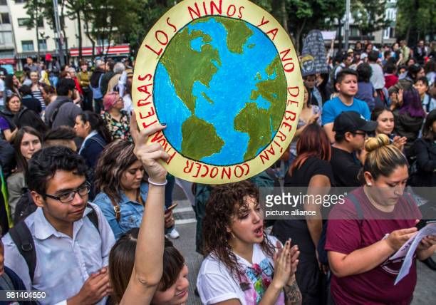 'Children should not know borders' is written on a banner during a protest against the migration policies of USA The protest takes place in front of...