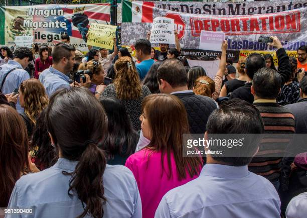 'Where are the children 1400 children without registration in harborages' is written on a banner during a protest against the migration policies of...