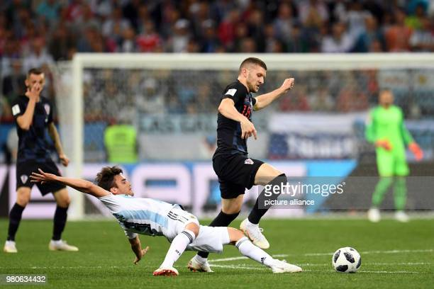 21 June 2018 Nizhny Novgorod Russia Soccer World Cup Argentina vs Croatia Group Stage Group D 2nd match day at the Nizhny Novgorod stadium...