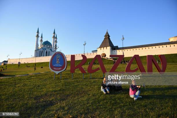 Lettering reading 'Kazan' stands outside the mosque Kul Sharif Photo Andreas Gebert/dpa