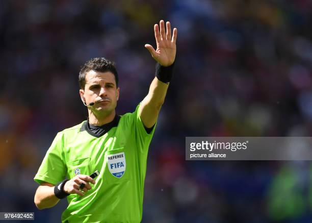 16 June 2018 Russia Kazan Soccer FIFAWorld Cup 2018 Matchday 1 of 3 France vs Australia in the Kazan Arena Referee Andres Cunha from Uruguay Photo...