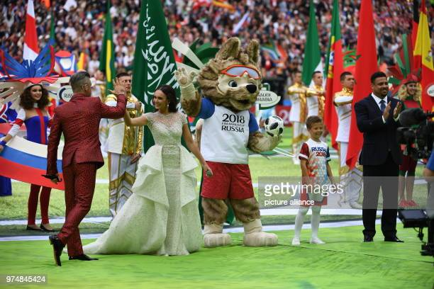 14 June 2018 Russia Moscow Soccer FIFA World Cup First Round Group A First Matchday Russia vs Saudi Arabia at the Luzhniki Stadium British pop star...