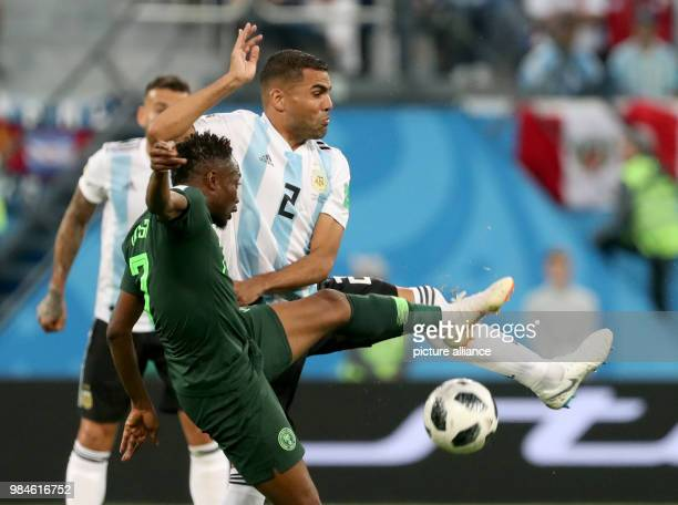 Soccer World Cup 2018 Preliminary round Group D 3rd game day Nigeria vs Argentina at the St Petersburg Stadium Argentina's Gabriel Mercado and...