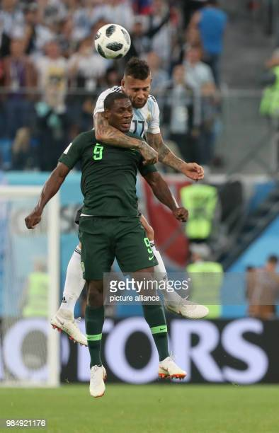 Soccer World Cup 2018 Preliminary round Group D 3rd game day Nigeria vs Argentina at the St Petersburg Stadium Argentina's Nicolas Otamendi and...