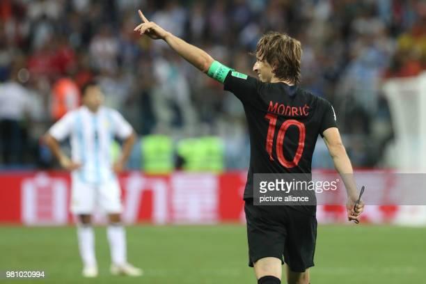 21 June 2018 Russia Nizhny Novgorod Soccer World Cup Argentina vs Croatia preliminary round Group D 2nd match day in the Nizhny Novgorod Stadium Luka...