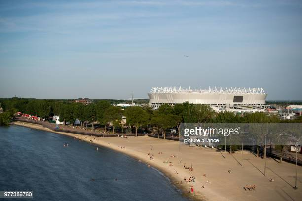16 June 2018 Russia RostovonDon Soccer FIFA World Cup 2018 An exterior view of the Rostov Arena Photo Marius Becker/dpa