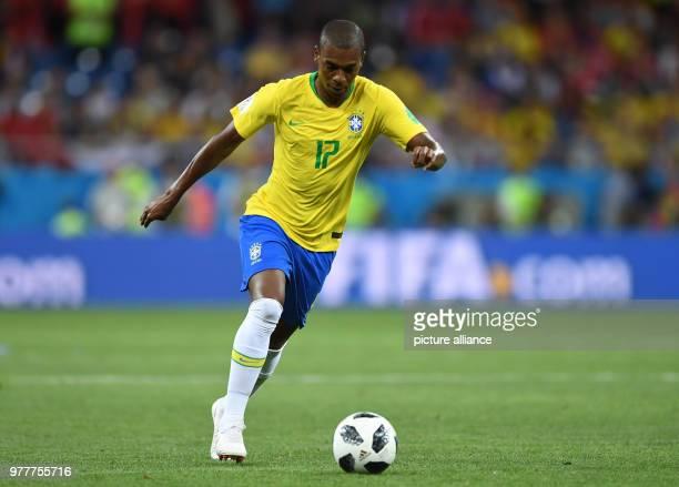 June 2018, Russia, Rostov-on-Don, Soccer, FIFAWorld Cup, Group E, Brazil vs Switzerland at the Don Stadium: Fernandinho from Brazil in action....
