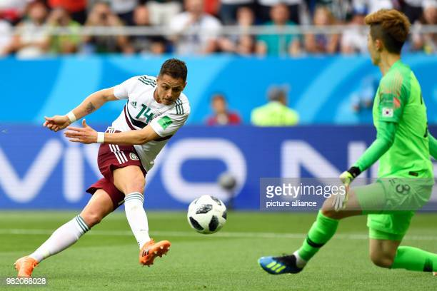 June 2018, Russia, Rostov-on-Don: Soccer,FIFA World Cup 2018, South Korea vs Mexico, group stages, Group F, 2nd matchday at the Rostov-on-Don...