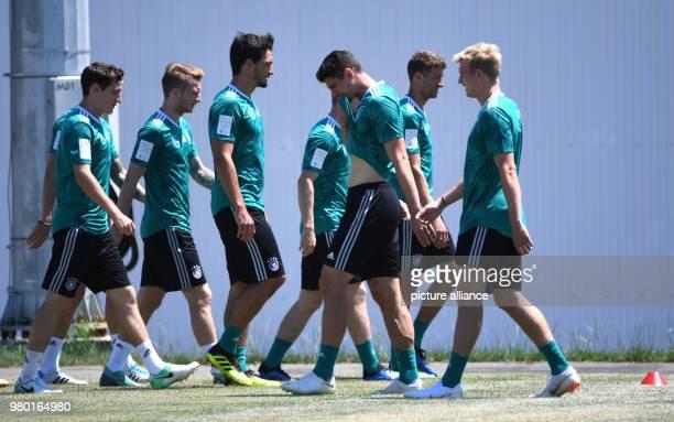 Soccer World Cup 2018 German national team team quarters Sebastian Rudy Marco Reus Mats Hummels Mario Gomez Thomas Mueller and Julian Brandt in...