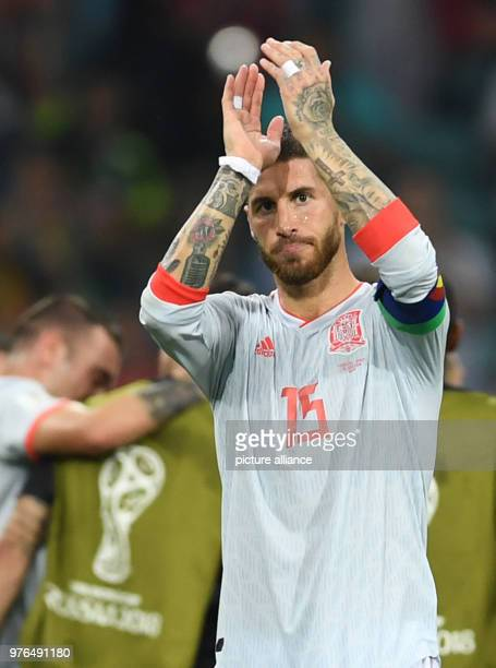 June 2018, Russia, Sotchi, Soccer, FIFA World Cup 2018 ,Matchday 1 of 3, Group B, Fisht Olympic Stadium : Portugal - Spanien im Sotschi-Stadion....