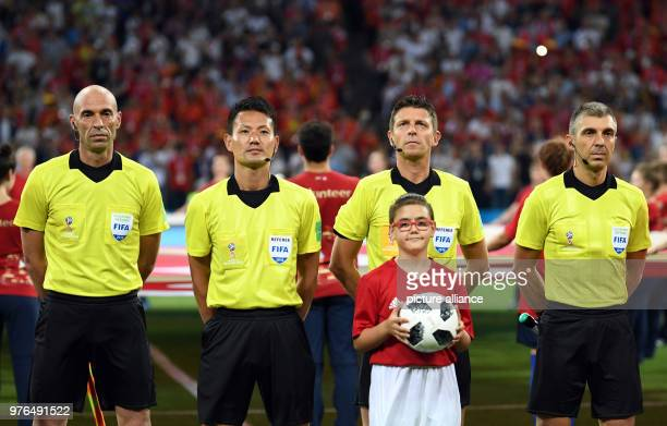 15 June 2018 Russia Sotchi Soccer FIFA World Cup 2018 Matchday 1 of 3 Group B Portugal vs Spain Fisht Olympic Stadium Referee Gianluca Rocchi lineman...