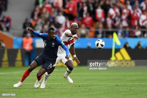 21 June 2018 Russia Yekaterinburg Soccer World Cup 2018 France vs Peru Preliminary round group C Second game day at the Yekaterinburg arena Luis...