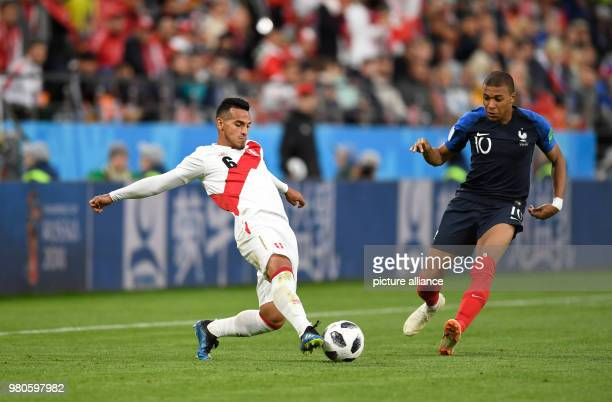 21 June 2018 Russia Yekaterinburg Soccer World Cup 2018 France vs Peru Preliminary round group C Second game day at the Yekaterinburg arena Miguel...