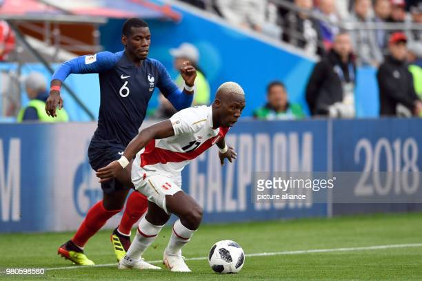 21 June 2018 Russia Yekaterinburg Soccer World Cup 2018 France vs Peru Preliminary round group C Second game day at the Yekaterinburg arena Andre...