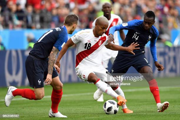 21 June 2018 Russia Yekaterinburg Soccer World Cup 2018 France vs Peru Preliminary round group C Second game day at the Yekaterinburg arena Lucas...